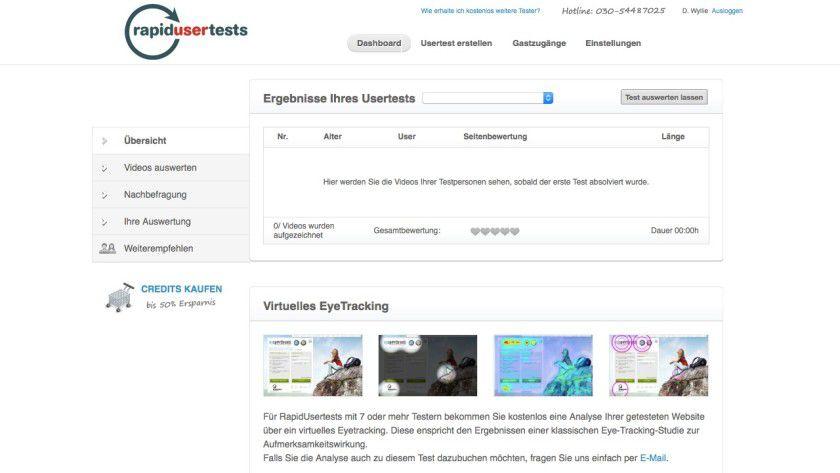 Die Testergebnisse lassen sich auf einem Online-Dashboard auswerten und mit Kollegen und Kunden auf einfache Weise teilen.