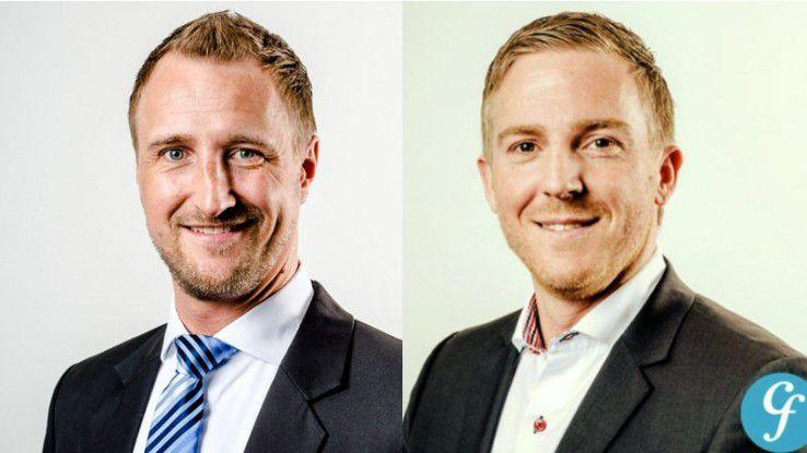 Andreas Fuess (links) und Nikolai Wider arbeiten bei der Personalberatung Computer Futures.