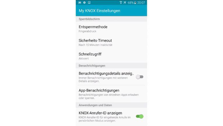 """Anders als bei MyKnox wird der Entsperrmodus """"Fingerabdruck"""" noch nicht von allen EMM-Lösungen unterstützt."""