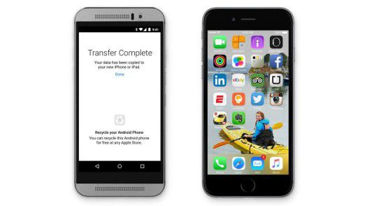 Wenn schon Android, dann wenigstens mit Stil: Apple zeigt ein HTC One M9 - allerdings ohne Logo.