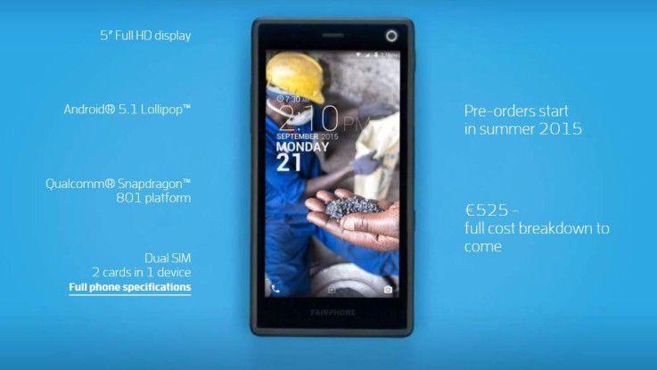 Die Spezifikationen des Fairphone 2