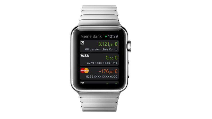 """Die App """"Meine Bank"""" der Deutschen Bank auf der Apple Watch"""