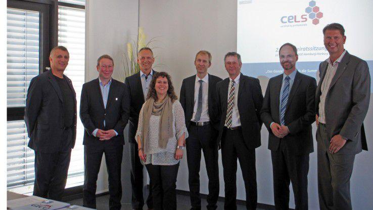 Der CeLS-Beirat wacht über die Qualität der Tests (von links): Günter Hilger, Dr. Carsten Witt, Dr. Horst Tisson, Daniela Chikato, Jörg Öynhausen, Burkhard Kaufmann, Christian Flöter und Ralph Freude.
