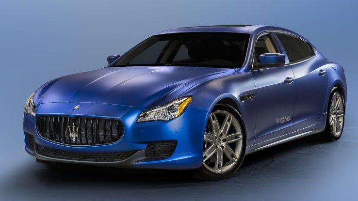 Qualcomm-Konzeptauto auf Basis eines Maserati Quattroporte GTS