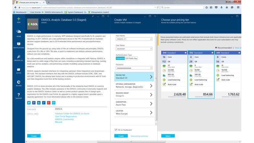 Über Azure Virtual Machines sollen Anwender die In-Memory-Datenbank von Exasol innerhalb weniger Minuten in der Microsoft-Cloud zum Laufen bringen.