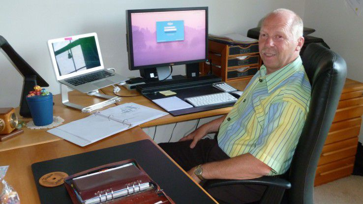 Pfarrer Becker an seinem Arbeitsplatz n Washington DC.