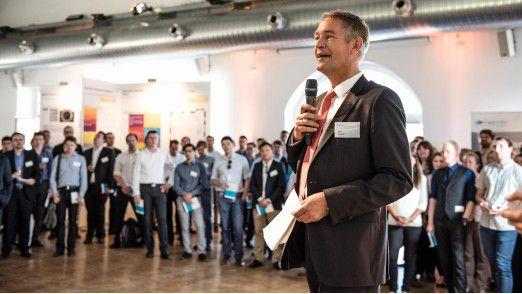 Capgemini-Manager Dumslaff hält ein leidenschaftliches Plädoyer für Hightech-Entwicklung und Innovationen.