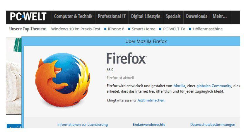 Firefox 33 steht jetzt zum Download bereit.