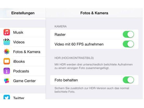 In den Einstellungen kann man beim iPhone 6 (Plus) für Videos von 30 FPS auf 60 FPS umstellen. Direkt in der Kamera-App ist dies leider nicht möglich. Alle iPhone-5-Modelle nutzen 30 Bilder pro Sekunde.