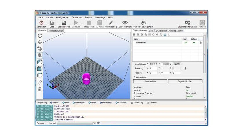 Beliebte 3D-Druckersoftware: Repetier Host