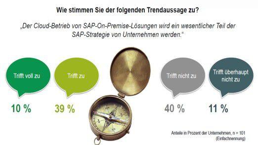 Die Anwender sind gespalten in Frage nach der strategischen Relevanz des SAP-Cloud-Betriebs.