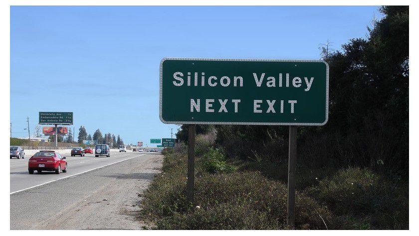 Der Highway zum Silicon Valley - hier ausnahmsweise mal ohne Stau.