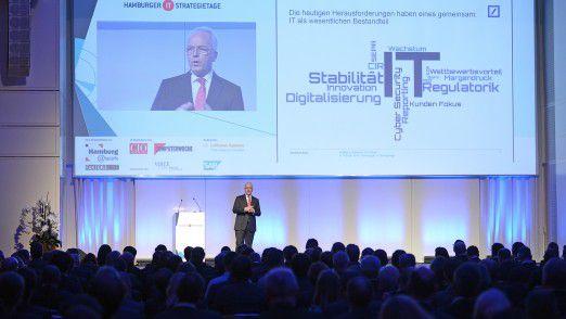 Wolfgang Gaertner, CIO Retail bei der Deutschen Bank, auf den Hamburger IT-Strategietagen.