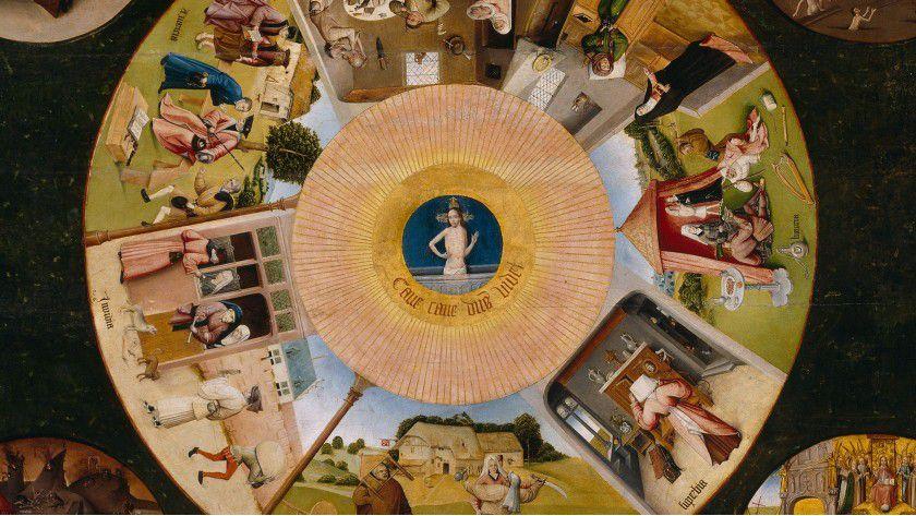 So stellte Hieronymus Bosch vor 500 Jahren die Todsünden dar. Man sollte sie auch als Projektmanager heute vermeiden.