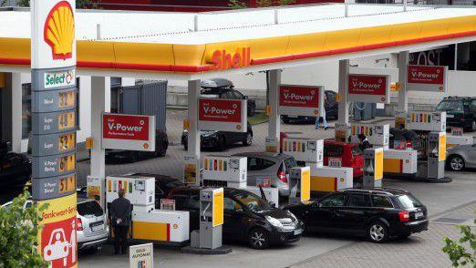 Shell Tankstelle: So teuer wie auf diesem Bild war es seit Wochen nicht mehr.