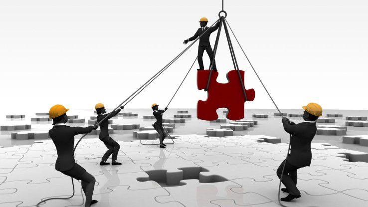 Puzzle, Gruppe, Ziel, Plan, Outsourcing, Baustelle, Projekt 16:9