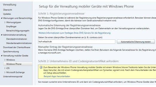 Windows Phone 8.1 verwalten Unternehmen optimal mit dem Cloud-Dienst Windows Intune.