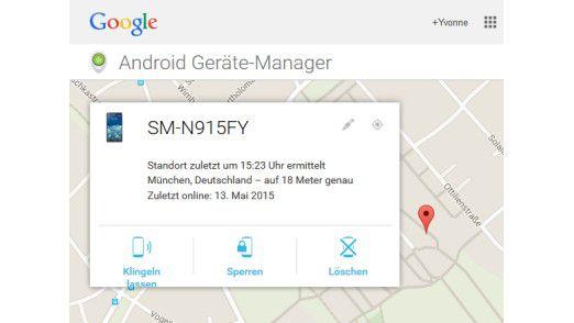 Über den Android-Geräte-Manager können Sie Ihr Smartphone orten.