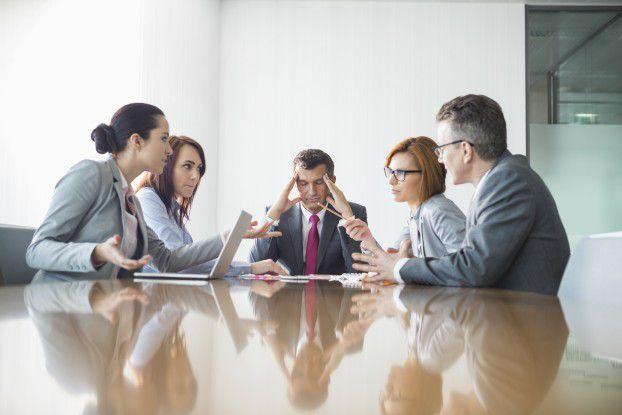 Mittelmanager, ein Job zwischen den Stühlen.