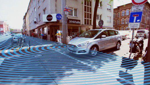 Ford verbaut optional eine Kamera zur Vermeidung von Zusammenstößen.