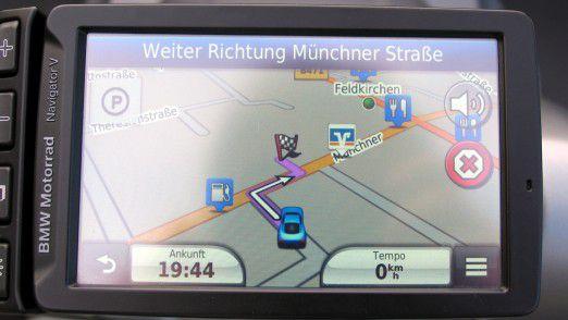 BMW Navigator V: Anzeige der Fahrtroute