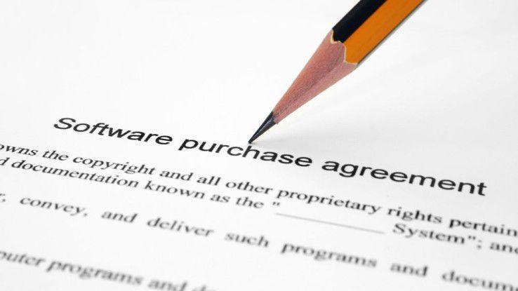 Software Lizenzvertrag - Anwender sollten genau lesen, welche Nutzungsbedingungen ihnen ihr Softwarelieferant vorschreibt.