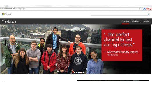 """Mit """"The Garage"""" haben Mitarbeiter von Microsoft und externe Experten einen Ort, in dem sie gemeinsam kreative Projekt verfolgen können."""