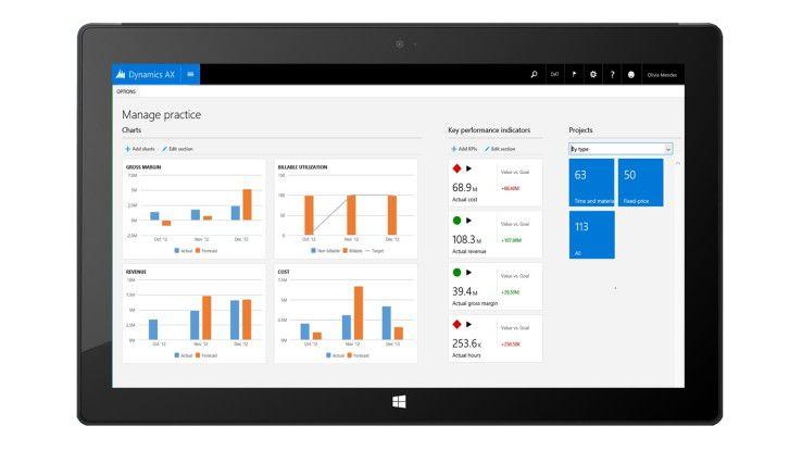 """Microsoft hat die neueste Version seiner ERP-Software """"Dynamics AX"""" freigegeben."""
