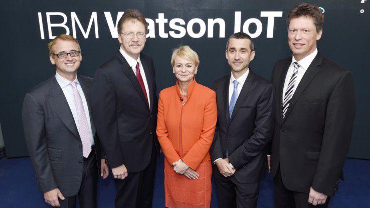 IBM bei der Eröffnung des IBM Watson IoT Centers in München.