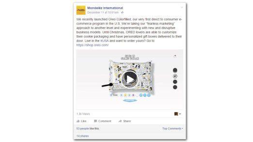 Eine süße Idee: Kunden von Mondelez können personalisierte Oreo-Packungen entwerfen