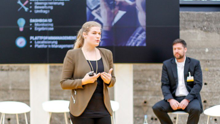 Innosabi-Gründerin Catharina van Delden auf dem Accenture Innovations Forum 2016.