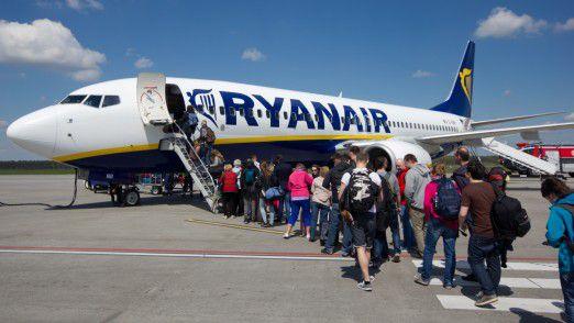 Die Billigflieger wie Ryanair geben auf dem deutschen Markt richtig Schub.