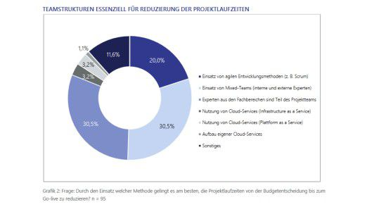 61 Prozent der Befragten bearbeiten Projekte mit gemischten Teams.