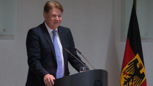 Klaus-Hardy Mühleck beim Festakt zur Gründung von CIT.