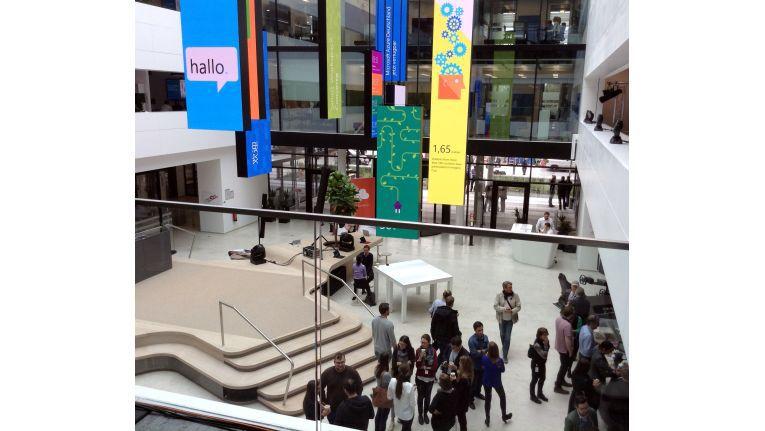 Foyer der neuen Microsoft Deutschland-Zentrale