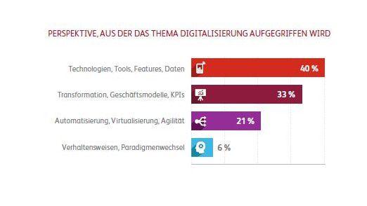 Zum Missfallen der Berater dominiert bei den Anwendern bei der Digitalisierung die technologische Perspektive.
