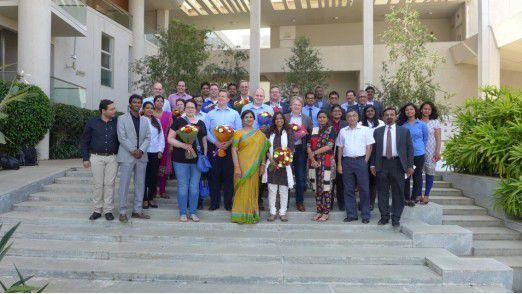 An der Myra School of Business in Mysore wurde die LEP-Reisegruppe sehr herzlich empfangen.
