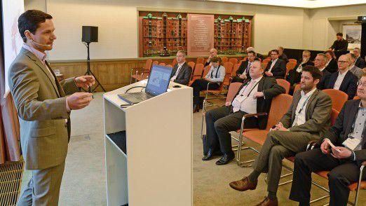 Lumir Boureanu, CTO und Geschäftsführer der Eurodata TEC GmbH, sprach auf den Hamburger IT-Strategietegen.