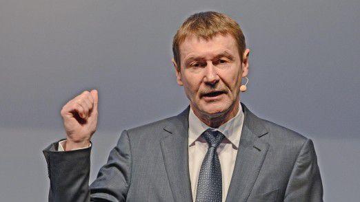 Klaus Helmrich, Mitglied des Vorstands der Siemens AG, sprach auf den Hamburger IT-Strategietagen.