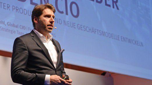 Festo CIO Roger Kehl sprach auf den Hamburger IT-Strategietagen.