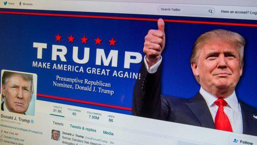 twitter account von US-Präsident Donald Trump: Einfach lostwittern ist der falsche Weg. Es kommt auf das wie an.