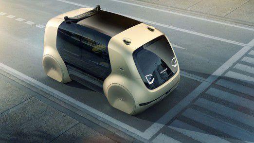 Self-Driving-Car Sedric von VW: Autonome Fahrzeuge könnten von der enormen Rechenleistung von Quantencomputern profitieren.