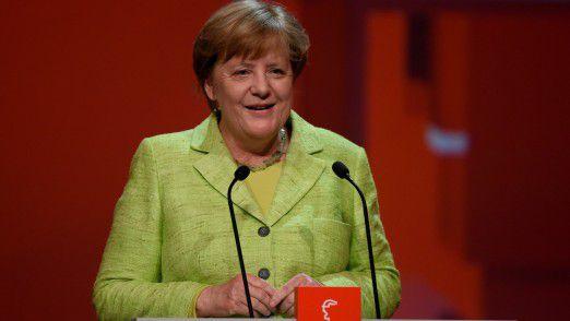 Angela Merkel auf der Hannover Messe 2017.