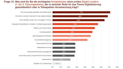 Wer die Digitalisierung verantwortet, braucht sich nicht in erster Linie um Führung und Mitarbeiterentwicklung zu kümmern, zeigt eine Umfrage unter Managern.