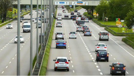 Blick auf den Münchner Ring: Die Mehrheit der Fahrzeuge wird von einem Dieselmotor angetrieben.