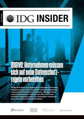 Laden Sie sich unseren IDG Insider zum Thema DSGVO kostenlos herunter.