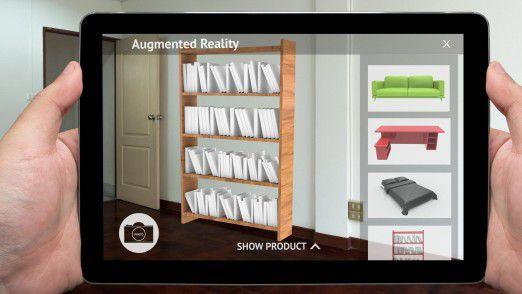 Mit Augmented Reality können Anwender testen, wie Möbel direkt bei ihnen zu Hause aussehen.