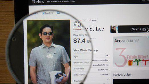 Lee Jae Yong muss für fünf Jahre ins Gefängnis.