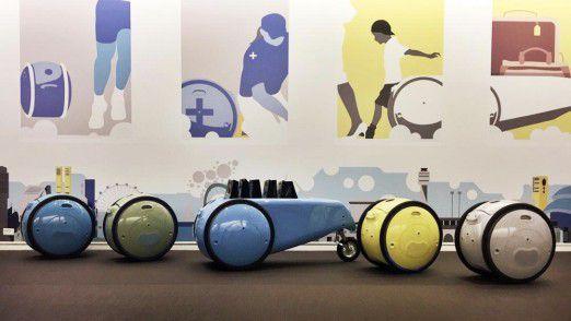 Sie folgen dem Menschen und tragen sein Gepäck – ohne Leine: die autonomen Vehikel von Piaggio.