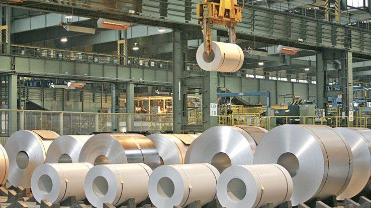 Coils (Stahlblechrollen) könnte die Salzgitter AG künftig mit Barcodes versehen. Der Datenverkehr läuft dann Dank des Industrial Data Space direkt und sicher zwischen Hersteller und Kunden ab.
